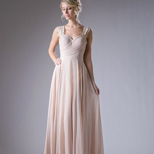 Champagne Sweetheart Party Long Dress
